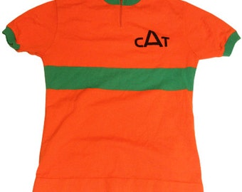 70's vintage CAT cycle jersey made in France