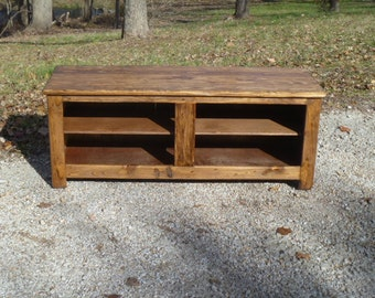 Rustic Bench , Shoe Rack, Repurposed Wood, Recycled Pallet Wood, Entry Way  Bench