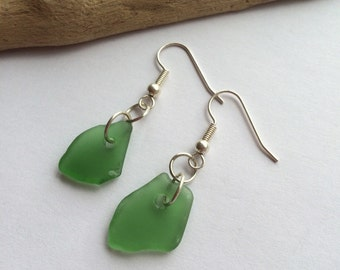 Beautiful, hand made,Scottish Sea Glass earings  E 29.9.15.3
