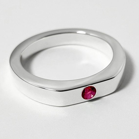 simple ruby ring in sterling silver sterling silver ruby