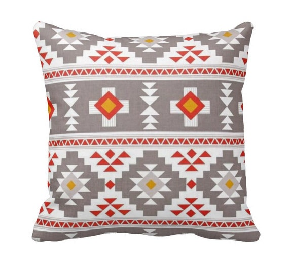 Throw Pillow Zipper Covers : Zippered Aztec Throw Pillow Cover by Primal Vogue Various