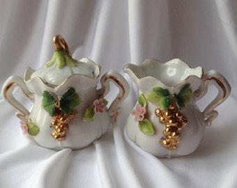 Cream and Sugar Set, Made in Japan
