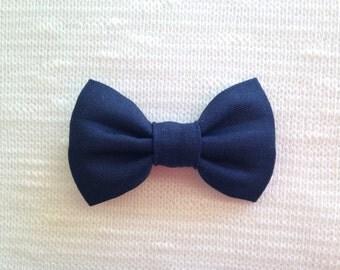 Navy Blue Hair Bow - Baby Hair Bow - Bow - Girls Hair Clip - Hair Bow - Baby Hair Clip - Hair Clip - Bow Hair Clip