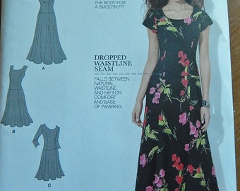 Simplicity 1537 Misses Womens Amazing Fit Sewing Pattern Brand New Uncut Sizes 10-18 Princess Seams Dropped Waistline