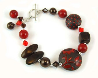 Rich Red Ceramic Bracelet