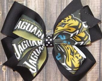 Jacksonville Jaguars Hair Bow / Jacksonville Bow / Jaguars Bow / Jacksonville Jaguars