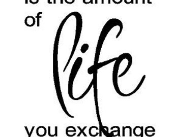 The price of anything is the amount of life you exchange for it decal