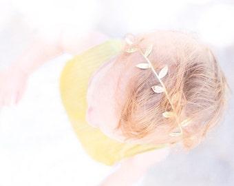 Gold leaf headband, gold headband, leaf headband, baby girl gold headband