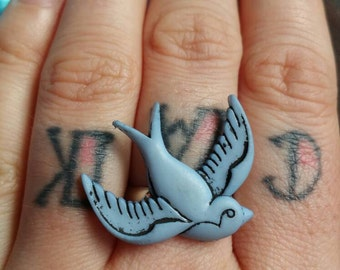 Blue Swallow Ring