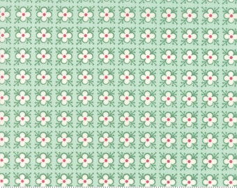 Bumble Berries Berry Buds Light Green Floral Fabric - The Jungs - Moda - by the half yard - 100% Cotton, floral