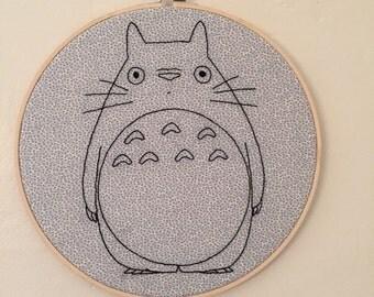 Totoro Embroidery hoop art