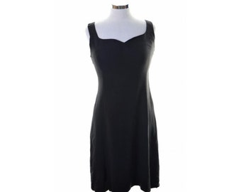 Jungle Kenzo Womens Vest Dress Size 40 Medium Black Viscose Acetate