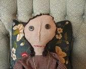 Primitive Folk Dolls, Primitive Folk Doll Annabelle, Americana, Rag Dolls, OOAK, FAAP, OFG, HAFair