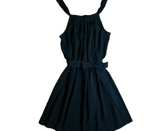 Womens Bow Dress. Black. Spring Summer.
