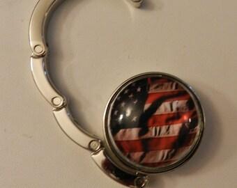 American Flag Handbag  Purse Holder V1