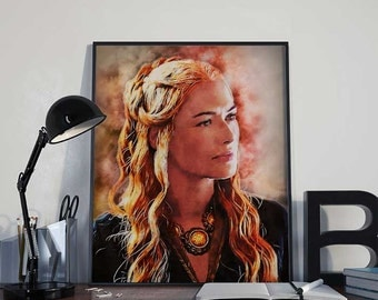 Cersei Lannister - Game of Thrones Art Print Poster - 8x10 inch INSTANT DOWNLOAD - Wall Decor, Printable, Eco Gift