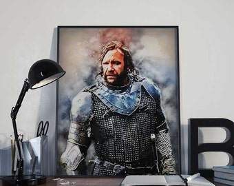 The Hound Sandor Clegane - Game of Thrones Art Print Poster - INSTANT DOWNLOAD - Wall Decor, Printable