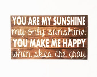 You Are My Sunshine Wood Wall Art