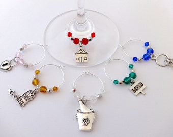 Happy New Home! Wine Charms