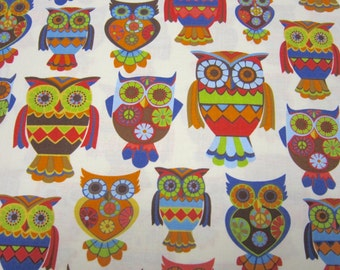 Owl Cotton Fabric Designed by Alice Kennedy for Timeless Treasures
