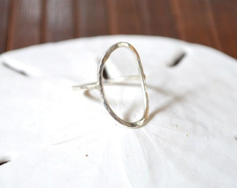 Open Circle Ring, Karma Ring, Silver O Ring, Gold O Ring, Geometric Ring, Minimalist Ring, Circle Ring