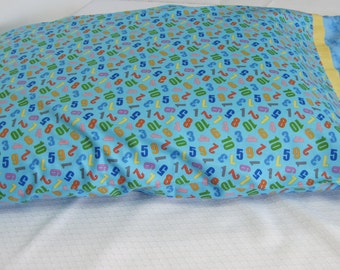 Children's pillow case, pillow case, pillowcase, Children's bedding, Learning to count, Counting, Cotton Bedding, Child's pillowcase