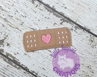 Heart Bandage Feltie - CUT