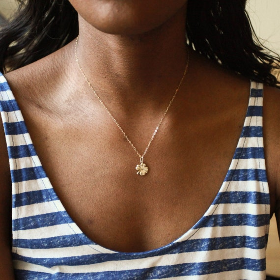 Clover Necklace, Four Leaf Clover, Best Friend Gift, Gold Clover Charm, Good Luck Necklace, Gift For Her, Friendship Necklace