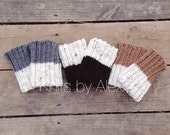 Reversible Boot Cuffs- Boot Toppers. Knitted, Fall Accessories!