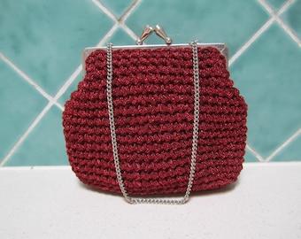 Gorgeous Vintage Red Handbag - 1950's - Wedding