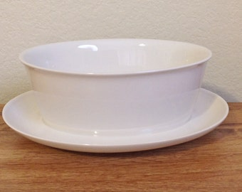 Midcentury Franciscan Whitestone Ware Cloud Nine Gravy Boat