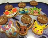 1pcs pocket monster cookie strap (message me your choice)