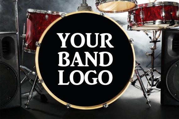Drum Head Sticker : custom bass drum decal bass drum sticker custom band name ~ Vivirlamusica.com Haus und Dekorationen