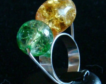 Ring green & brown