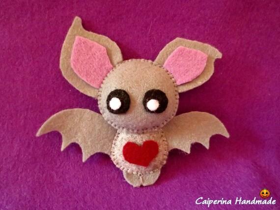 Pipistrello in pannolenci halloween portachiavi for Portachiavi pannolenci
