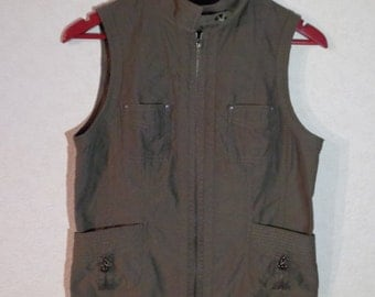 Women Vest Romantic Comfortable Small Size Waistcoat Country Zipper Made In Germany