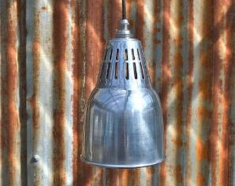 Urban chic polished metal vented hanging light pendant shade ceiling lamp UCPSR4