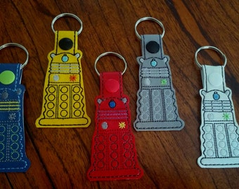 Doctor Who Dalek Key Fob/Doctor Who Dalek Keychain/Doctor Who Key Ring