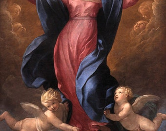 Guido Reni:  The Assumption of the Virgin. Fine Art Print/Poster. (002099)