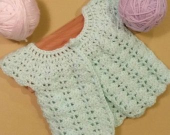 Lacey Crochet Baby Sweater
