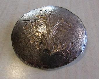 Textured Sterling Silver Diamond Cut Pin Pendant