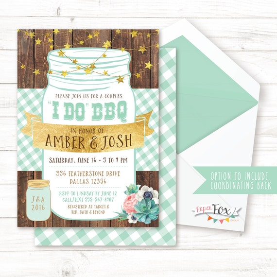 I Do BBQ Country Wedding Invite