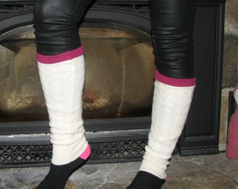 Cashmere Leg Warmers - Repurposed Cashmere - Upcycled