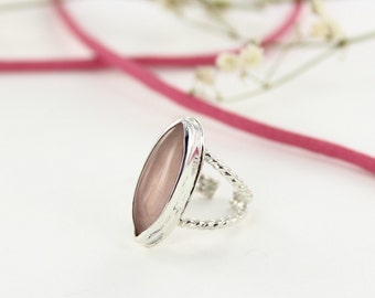 Quartz ring - Pink ribbon - Breast cancer foundation donation