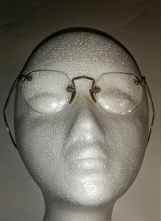 129dc091080 Vintage Fulvue Ful Vue Welfex 1 10 12k Gold Filled Rimless Glasses