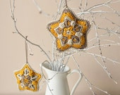 PATTERN - Crochet star Christmas ornament - Wall hanging decoration for nursery - instant download