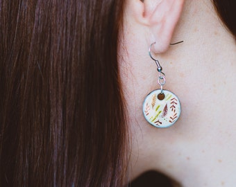 oorbellen met illustratie van Anna Grimal