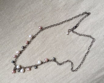 Sterling Pearl Necklace -- 534