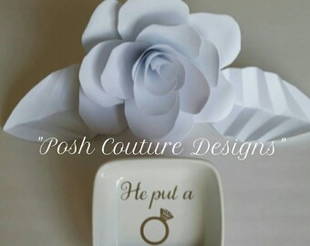He Put A Ring On It/ Jewelry Ring Dish/  Bridesmaid Gift/ Bridal Gift/ Anniversary Gift/ Personalized Ring Dish/ Gifts for her
