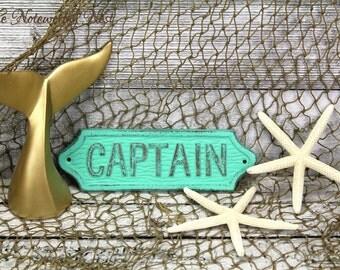 Captain sign / Nautical decor // Boat Decor  // Man Cave // Ship Decor // Boat Captain // Beach Decor